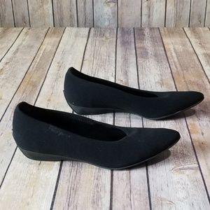 Salvatore Ferragamo Black Slip On Flats 5.5